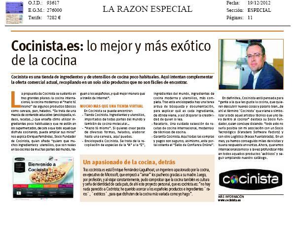 La Razón_entrevista_Cocinista