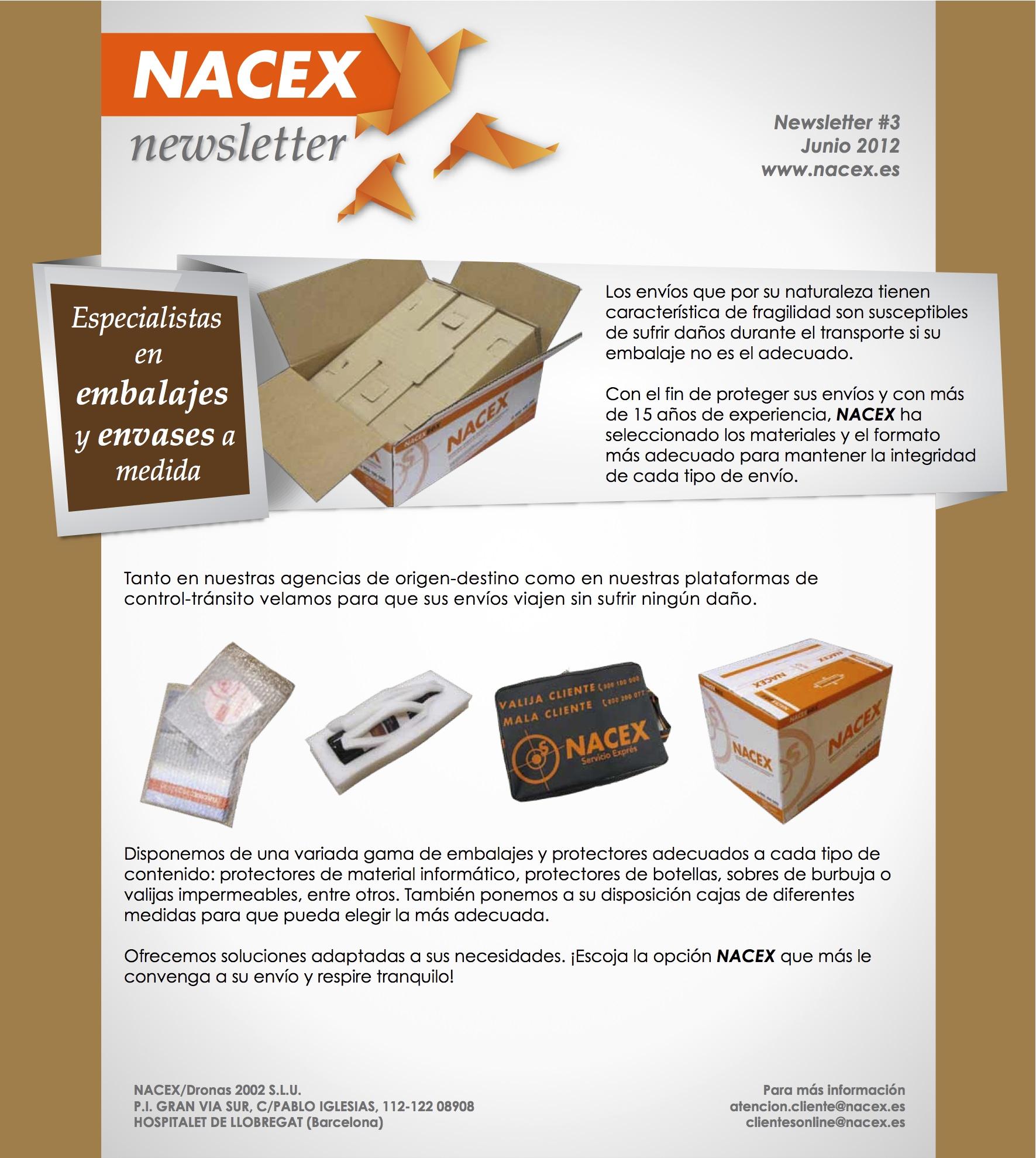 Newsletter Nacex embalaje