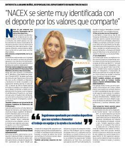entervista a Arianne Muñoz en el diario Sport