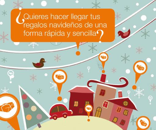 ¿quieres hacer llegar tus regalos navideños de una forma rápida y sencilla?
